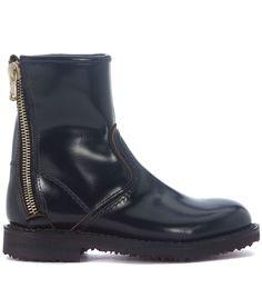 ESSEUTESSE | ESSEutESSE Esseutesse Black Calf Leather Combat Boots #Shoes #Boots #ESSEUTESSE