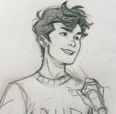 vvivaa Lately all I've had time for are small sketches of smiling kids but oh well anything is better than nothing, so here's Percy because it's been a while! Pencil Art Drawings, Art Drawings Sketches, Cartoon Drawings, Cute Drawings, Smile Drawing, Boy Drawing, Evvi Art, Percy Jackson Art, Cartoon Kunst