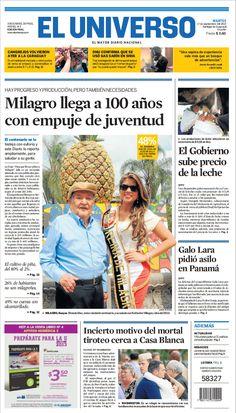 Portada de Diario EL UNIVERSO del martes 17 de septiembre del 2013.  #DiarioELUNIVERSO Las noticias del día en: www.eluniverso.com