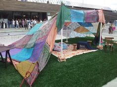 Temporary shelter at Pitti Immagine Filati ss2014-Florence