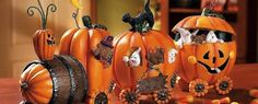 Questa è arte! - #halloween #decoration #decorazioni #treno #zucca #pumpkin