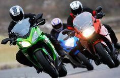 Comparativa Sport-Turismo: BMW F 800 GT, Kawasaki ER-6f y Suzuki GSX 650 F