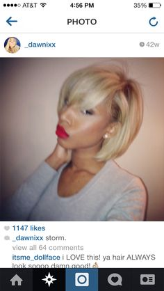 Her hair is everything!!!! I wish I could pull this off. |#BobLife|