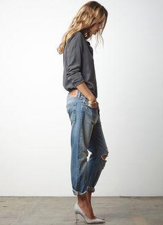 Street style Boyfriend jeans   Les Brèves - Tendances de Mode