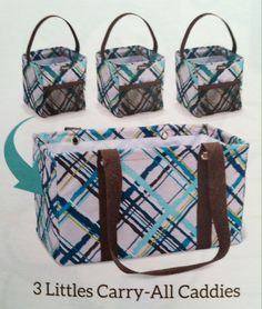 Medium utility tote - you can fit 3 littles carry all caddies