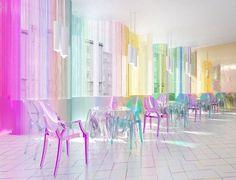 Fashion&Food restaurant By Liya Mamina Cafe Interior, Shop Interior Design, Interior Exterior, Store Design, Interior Architecture, Design Studio, House Design, Pastel Interior, Indie Room