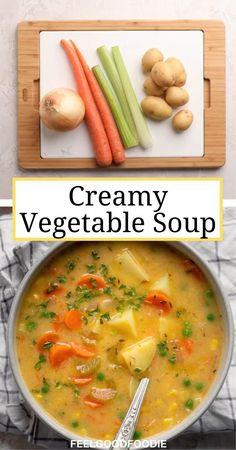 Tasty Vegetarian Recipes, Vegan Dinner Recipes, Whole Food Recipes, Dinner Healthy, Eating Healthy, Vegan Soups, Healthy Vegan Meals, Veggie Soup Recipes, Creamy Soup Recipes