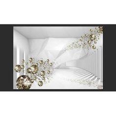 Fototapete Diamond Corridor 210 cm x 300 cm Canora Grey Buy Wallpaper Online, 3d Wallpaper For Walls, Normal Wallpaper, Wallpaper Panels, Original Wallpaper, Wallpaper Roll, Tube Carton, White Elegance, Embossed Wallpaper