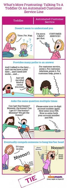 Utterly brilliant - customer service is bad sometimes, but is it really as bad as YOUR toddler?!? #parenting #kids #customerservice. Thanks Nickmom!