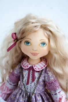 Купить Кукла интерьерная Виктория, текстильная кукла, коллекционная кукла - тильда кукла