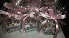 Quinceanera Cookie Favors, Pink and Silver Crown Cookies