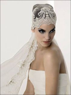 Love a good veil!  How Gorgeous is this? ,,,LOVE IT