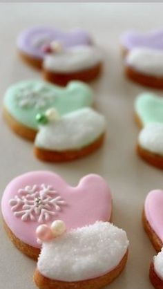 In place of the snowflake, add a tiny frosted cookie Iced Cookies, Cut Out Cookies, Fun Cookies, Cupcake Cookies, Decorated Cookies, Christmas Sugar Cookies, Christmas Cupcakes, Holiday Cookies, Holiday Baking