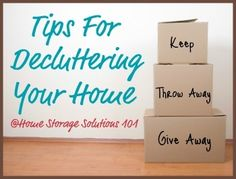 Tips for decluttering your home so you can find you path to peace. (Series from Home Storage Solutions 101) #clever
