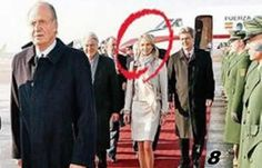 The actual protocol is fulfilled to the letter,  King first woman after ... Sorry, not his wife. Who's that girl? Corinna perhaps?