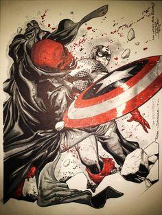 Captain America vs. Red Skull by Rafa Sandoval *
