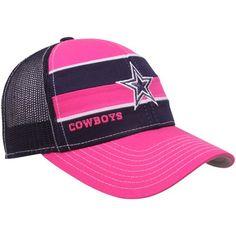 Reebok Dallas Cowboys Ladies Pink-Navy Blue Breast Cancer Awareness Mesh  Sideline Adjustable Hat Dallas fc8996a9e55b