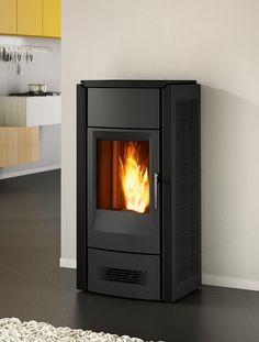pelletkachel Piazzetta 963 D (11kW) met centrale verwarming - ca. 4100€ incl. 6% BTW (ook 963 M) Fireplaces, Stove, Home Appliances, Wood, Fireplace Set, House Appliances, Fire Places, Range, Woodwind Instrument