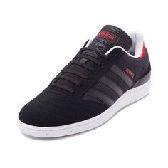 The new Busenitz Athletic Shoe from adidas combines retro soccer style with skateboarding performance for a versatile skate design that delivers. Adidas collaborates with pro skater Dennis Busenitz to deliver the stylishly comfortable Busenitz Sneaker, featuring soft suede leather uppers with sturdy mesh underlays, signature adidas side stripes, and GeoFit technology for premium cushion and support.