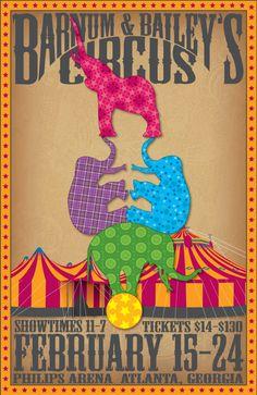 Barnum & Bailey's Circus Poster on Behance