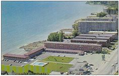 The old Mimico Motel Strip . This era ended in the 80's replaced by the Humber Bay Condo Community . Mimico's lakeside Westpoint Motor hotel stands alongside mid-century low rise apartment buildings