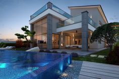 These luxury beachfront villas for sale in Limassol have modern design, big plot, high quality materials, what else you are looking from a property? Investment Property, Property For Sale, Beachfront House, Limassol, Real Estate Investing, Luxury Villa, Cyprus, Luxury Real Estate, Investors