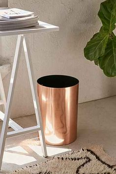 Unique Bathroom Trash Cans - Unique Bathroom Trash Cans, Bino Metal Waste Basket Bathroom Trash Can for Bedroom Home Fice Dorm College Kitchen Matilda, Bedroom Trash Can, Feng Shui, Rose Gold Decor, Gold Bathroom, Garbage Can, Trash Bins, Bath Accessories, Clothing Accessories