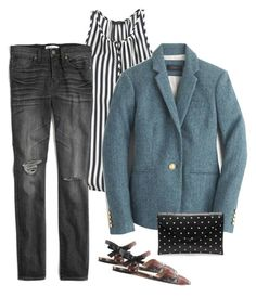 """""""Untitled #1437"""" by kittywitty ❤ liked on Polyvore featuring J.Crew and Madewell"""