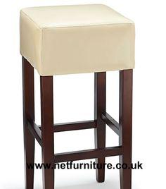 rhone tan aniline real leather rustic oak bar stool no back bar
