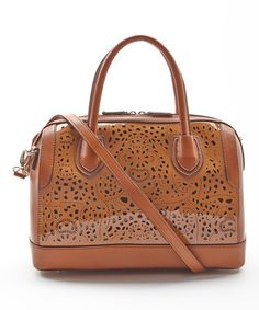 This Brown Perforated Convertible Satchel is perfect! #zulilyfinds