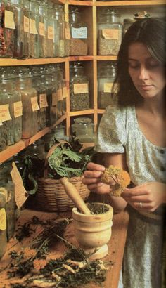 Herbs  (I would so love to have an herb room like this! ~~cmg)