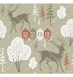 Vintage christmas noel background vector by zolssa on VectorStock®