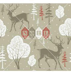 Vintage christmas noel background vector by zolssa on VectorStock®