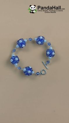 Sommer blau Perlen Armband - Arts and crafts - Bracelets Handmade Jewelry Bracelets, Bracelet Crafts, Jewelry Crafts, Kids Jewelry, Jewelry Accessories, Bead Jewellery, Seed Bead Jewelry, Seed Beads, Beaded Bracelet Patterns