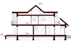 DN Karen is a house with an attic, basement with garage single user in a block building. The project is. Dream Home Design, House Design, Beautiful Small Homes, Bungalow House Plans, Micro House, Magnolia, Building A House, Villa, Floor Plans