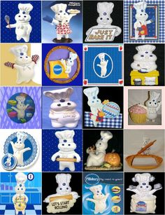 pillsbury doughboy | Pillsbury Doughboy Magnets 20pk Collectible All Different and Awesome ...