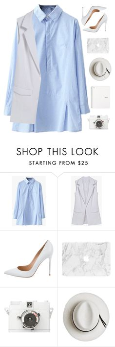 """""""Work day"""" by genesis129 ❤ liked on Polyvore featuring Gianvito Rossi, Lomography and Calypso Private Label"""