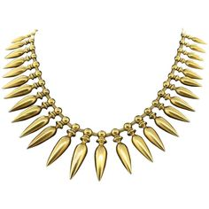 Impressive Gold Necklace | From a unique collection of vintage drop necklaces at…