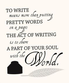 So true. I write poetry and I definitely don't share it with most people because it comes from an intimate part of my soul...