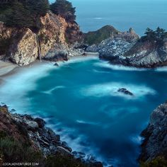 11 Things You Can't Miss in Big Sur California McWay Falls - an 80 ft waterfall in Julia Pfeiffer Burns State Park in Big Sur California // Big Sur California, California Coast, California Travel, California Restaurants, Travel Oklahoma, Northern California, San Diego, San Francisco, Wanderlust