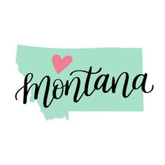 Each element of my hand-lettered and illustrated state art designs are separate so you can change the sizes of the heart and state names as you please! Montana Tattoo, Painting Tips, Rock Painting, Dawn Nicole, English Projects, State Image, Word Tattoos, Us Map, Global Art