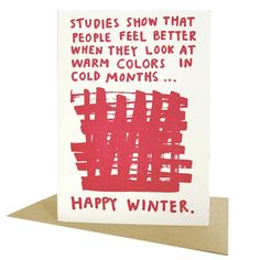 Happy Winter Card by People I've Loved on Little Paper Planes $5