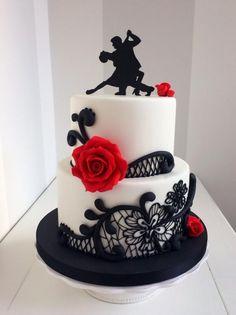 Tango - cake by Bella's Bakery Amazing Wedding Cakes, Amazing Cakes, Cupcakes, Cupcake Cakes, Dancer Cake, Danse Salsa, Fondant Cake Designs, Royal Cakes, 40th Birthday Cakes