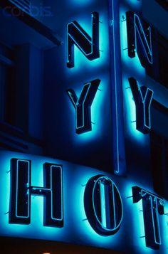 Neon Art Deco Hotel Sign