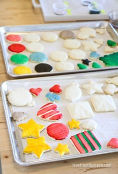 Decorate cookies by painting them