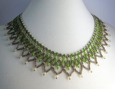 Beadwork - this is similar to the kind of necklace I've been working on finishing (though this one isn't mine).