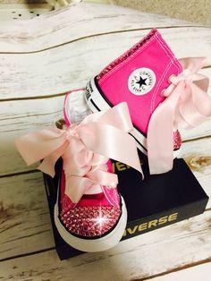 Princesa rosa Converse Bling zapatos zapatos de por SarahsMoon