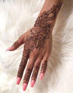Elegant bridal henna mehndi 15 Trendy Ideas Elegant bridal henna mehndi 15 Trendy IdeasYou can find Henna hands and more on our website.Elegant bridal henna mehndi 15 T. Henna Tattoo Designs, Henna Style Tattoos, Tattoo Henna, Tribal Hand Tattoos, Henna Inspired Tattoos, Tatoos, Tattoo Ideas, Pretty Henna Designs, Indian Henna Designs