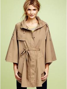 Belted cape jacket
