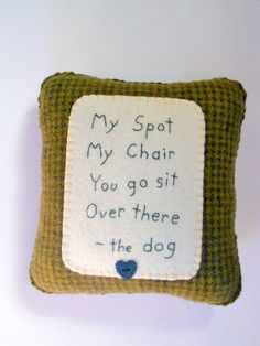 Dog Pillow  Funny Cute Novelty Pillow  I'm by ThePineappleCatz, $22.50